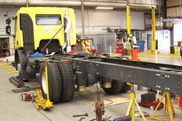שינויי מבנה במשאית ובדיקת מכלול התקני הגרירה